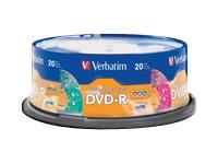 Verbatim Dvd-R 4.7Gb 16X Kaleidosc Serie 20Pk Spin