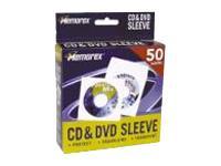 Memorex 50PK MEMOREX CD/DVD WHT SLEEVES