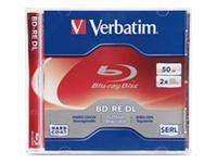 Verbatim Bd-Re Dl 50Gb 2X Branded Surface-1Pk Jewe