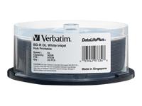 Verbatim BD-R DL 50GB 6X DATALIFE PLUS WHT INKJ PRINT 25PK