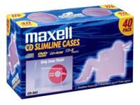 Maxell Cd Jewel Case Clear Slim 40Pk
