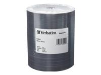 Verbatim 100Pk 700Mb Cd-R 52X Shny Slvr Tape Wrap