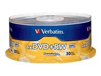 Verbatim 30Pk Dvd+Rw 4.7Gb 4X Branded Spindle