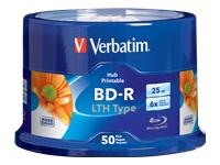 Verbatim Bd-R Lth  25Gb 6X Whe Inkje Print 50Pk Sp