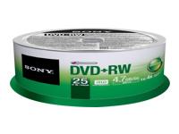 Sony 4X Speed Dvd+Rw 25 Pk Spindle