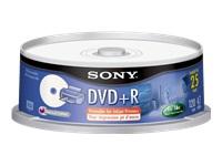 Sony Prntble Inkjet Prntrs 16X Dvd+R 25 Pk Spindle