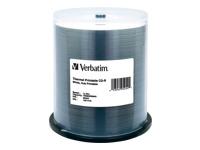 Verbatim 100Pk Cdr 80Mn 700Mb Wht Thermal Hub Prin