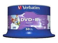 Verbatim 50Pk Dvd+R 4.7Gb 16X Bran White Inkjet, 5