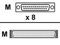 Digi 8Pt Db25M Dte Fan-Out Cable For Acceleport Xp