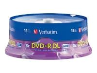 Verbatim 15Pk Dvd+R Dl 8.5Gb 8X Branded Spindle