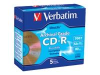 Verbatim 5Pk Ultralife Cdr 700Mb 80Min 52X Archiva