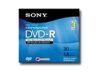 Sony 3Pk 8Cm Dvd-R Hang Tab