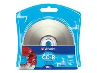 Verbatim Cdr 80 52X Silver Ij Printable 10Pk Bulk