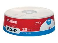 Imation 25Pk 4X Bd-R 25Gb Spindle Wht Inkjet